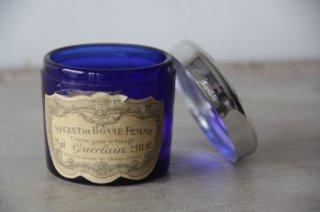 """GUERLAIN  ゲラン/青ガラスの小瓶 """"SECRET DE BONNE FEMME CREME POUR LE VISAGE"""""""