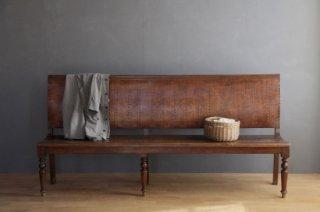 背凭れ付き木製ロングベンチ