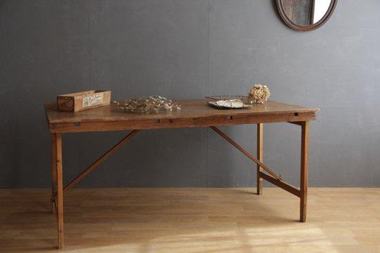 シンプルな木製折り畳みテーブルA