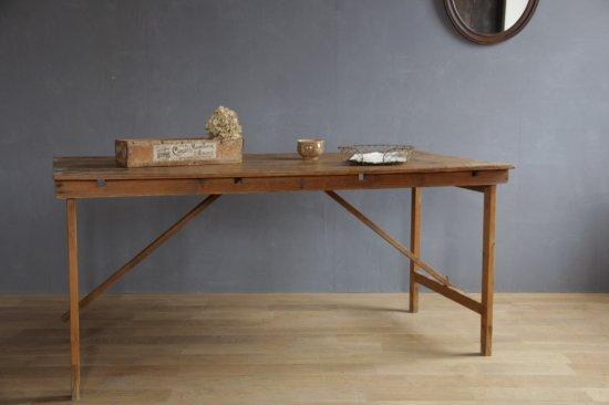 シンプルな木製折り畳みテーブルB