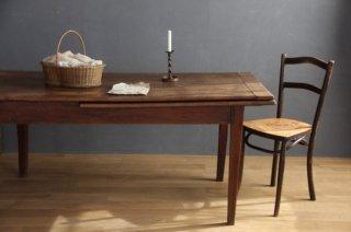 抽斗付き木製伸縮テーブル