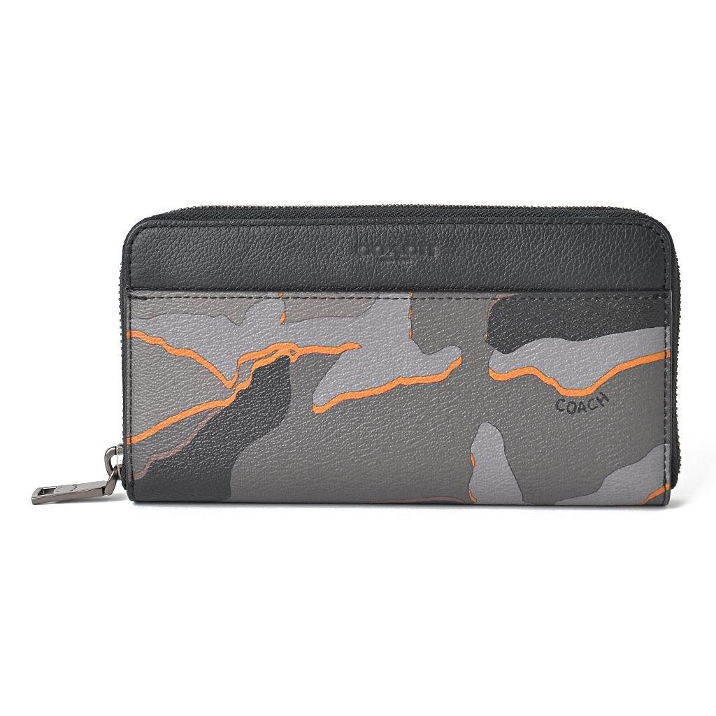 8d5278f9ce88 コーチ COACH 長財布 メンズ ラウンドファスナー グレー 黒 オレンジ -  イタリアから買い付けしたワンランク上のおしゃれなオトナの女性のためのファッションサイト