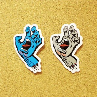 SANTA CRUZ  ステッカー SCREAMING HAND 3インチ BLUE or GREY