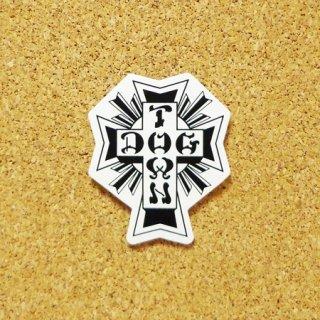 DOG TOWN  ステッカー CROSS LOGO BLACK/WHITE 1.75インチ