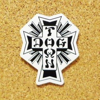 DOG TOWN  ステッカー CROSS LOGO BLACK/WHITE 5.5インチ