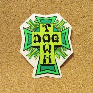DOG TOWN  ステッカー CROSS LOGO LIME & GREEN 4.5インチ