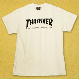 <img class='new_mark_img1' src='https://img.shop-pro.jp/img/new/icons25.gif' style='border:none;display:inline;margin:0px;padding:0px;width:auto;' />THRASHER(スラッシャー) Tシャツ SKATE MAG LOGO WHITE