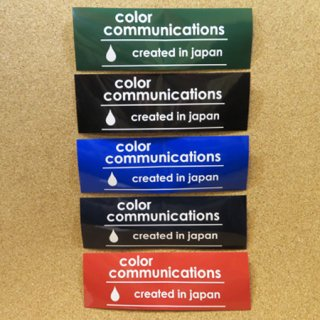 color communications  ステッカー created in japan