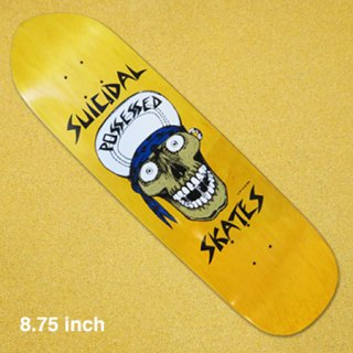 <img class='new_mark_img1' src='https://img.shop-pro.jp/img/new/icons1.gif' style='border:none;display:inline;margin:0px;padding:0px;width:auto;' />SUICIDAL SKATES  デッキ PUNK POINT SKULL POOL YELLOW 8.75インチ
