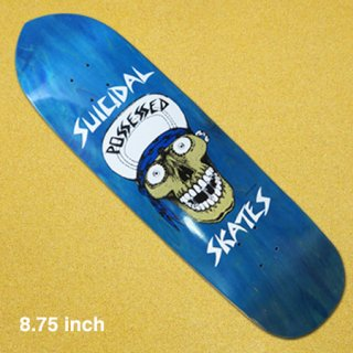 <img class='new_mark_img1' src='https://img.shop-pro.jp/img/new/icons1.gif' style='border:none;display:inline;margin:0px;padding:0px;width:auto;' />SUICIDAL SKATES  デッキ PUNK POINT SKULL POOL BLUE 8.75インチ