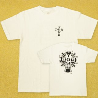<img class='new_mark_img1' src='https://img.shop-pro.jp/img/new/icons25.gif' style='border:none;display:inline;margin:0px;padding:0px;width:auto;' />DOG TOWN Tシャツ CROSS LOGO WHITE