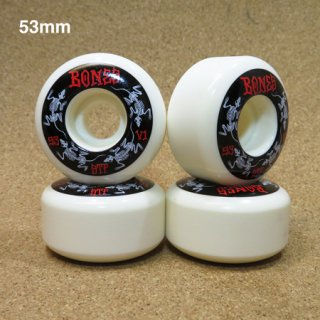 BONES ウィール STF V1 SHAPE STANDARD 53mm WHITE