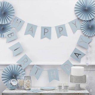 【GingerRay 】Happy Birthdayフラッグバンティング ブルー