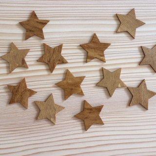 [アウトレット]木で作ったウォールステッカー 星