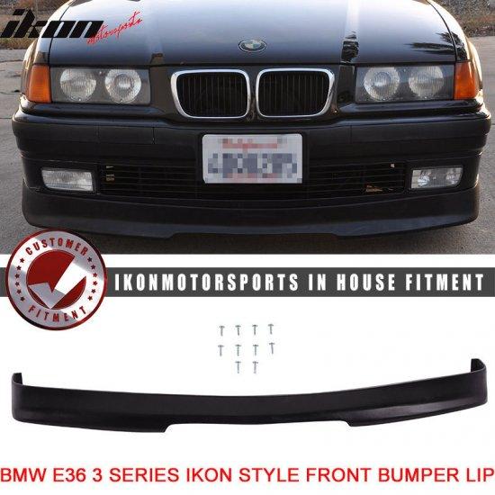 USパーツ 期間限定:92-98 BMW E36 3シリーズPU IKONフロントバンパーリップスポイラーPU Limited Time Offer: 92-98 BMW E36 3-Serie…