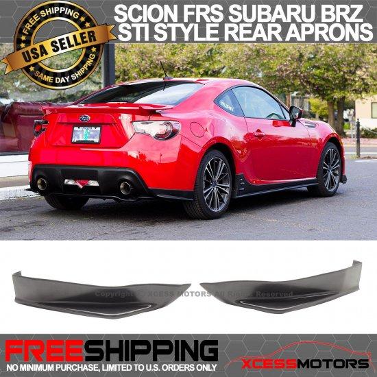 USパーツ 期間限定オファー13-17サイオンFRSスバルBRZリアSTIバンパーリップエプロン Limited Time Offer Fit 13-17 Scion FRS Subaru BR…