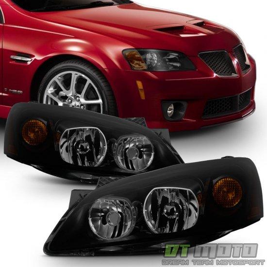 USヘッドライト ブラックスモーク2005-2010ポンティアックG6 GTヘッドライトヘッドランプアフターマーケット左+右 Black Smoke 2005-2010 Pontiac G6 GT