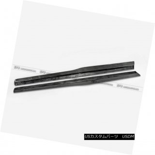 エアロパーツ カーボンファイバーBMW F82 M4 PSMスタイルサイドスカートエクステンションパネルフラットアドオンキット Carbon Fiber For BMW F82 M4 PSM Sty