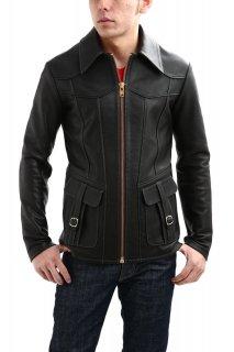 South Paradiso Leather (サウスパラディソレザー) East West (イーストウエスト) SMOKE (スモーク) レザージャケット BLACK (ブラック)