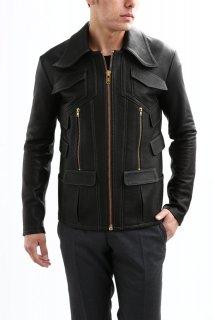 South Paradiso Leather (サウスパラディソレザー) East West (イーストウエスト) ADLER (アードラー) レザージャケット BLACK (ブラック)
