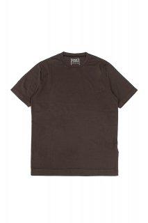 FEDELI (フェデリ) Crew Neck T-shirt ギザコットン Tシャツ BROWN (ブラウン・811)