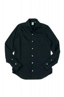 Finamore (フィナモレ) ストレッチコットン ワンピースカラー シャツ BLACK (ブラック・12)
