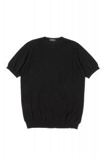 ZANONE (ザノーネ) Knit T-shirt コットンニット Tシャツ BLACK (ブラック・Z3369)