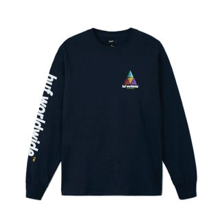 <img class='new_mark_img1' src='https://img.shop-pro.jp/img/new/icons3.gif' style='border:none;display:inline;margin:0px;padding:0px;width:auto;' />HUF : PRISM LOGO SPORTIF L/S TEE