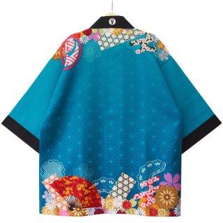 [Happi.Tokyo]オリジナルデザインはっぴ(法被)-和柄#01-Blue-