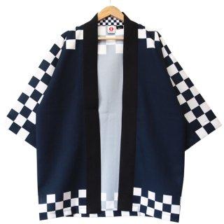 [Happi.Tokyo]オリジナルデザインはっぴ(法被)- 藍市松  #01 -Ai-