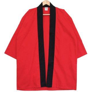 [東京法被 / 帯セット]綿無地はっぴ(法被)- 赤 -Red- Cotton Plain Happi