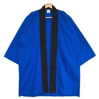 [東京法被 / 帯セット]綿無地はっぴ(法被)- 青 -Blue- Cotton Plain Happi