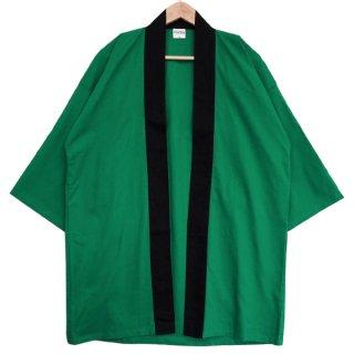 [東京法被 / 帯セット]綿無地はっぴ(法被)- 緑 -Green- Cotton Plain Happi
