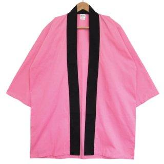 [東京法被 / 帯セット]綿無地はっぴ(法被)- ピンク -Pink- Cotton Plain Happi