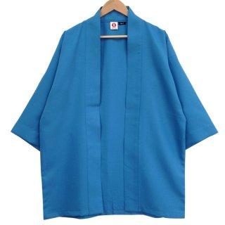 [Happi.Tokyo]綾織(あやおり)はっぴ(法被)-無地-青-Blue-