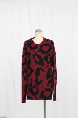 Leopard Pattern Knit Big Pull-over