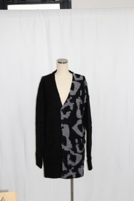 Leopard Pattern Knit Big Cardigan