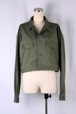 Back embroidery military Short Jackt