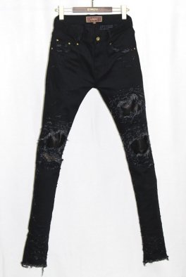 <img class='new_mark_img1' src='//img.shop-pro.jp/img/new/icons32.gif' style='border:none;display:inline;margin:0px;padding:0px;width:auto;' />Bennu × RESURRECTION collaboration / Leather Remake skinny Pants