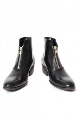 <img class='new_mark_img1' src='//img.shop-pro.jp/img/new/icons25.gif' style='border:none;display:inline;margin:0px;padding:0px;width:auto;' />Front zip Heel Boots-GOLD ZIP