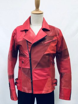 <img class='new_mark_img1' src='//img.shop-pro.jp/img/new/icons1.gif' style='border:none;display:inline;margin:0px;padding:0px;width:auto;' />Patchwork Leather Double Rider's Jacket