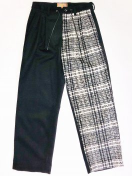 <img class='new_mark_img1' src='https://img.shop-pro.jp/img/new/icons1.gif' style='border:none;display:inline;margin:0px;padding:0px;width:auto;' />Tweed Changing Easy Wide Trousers