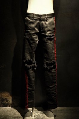 RESURRECTION Collaboration Velvet line Crash Pants