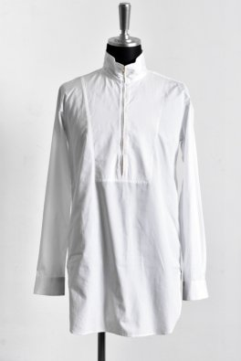 100S Broad Stand Collar Zip Long Shirt