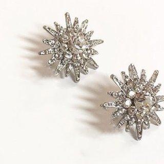 ラッキースター スタッドピアス  LUCKY STAR Stud Earrings | クリスタルシルバー Crystal Silver