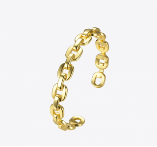 【即納】ダンクルチェーン バングルブレスレット <Lsize/Ssize>|Dancle Chain Bancle Bracelet | 男女兼用フリーサイズ<GOLD>