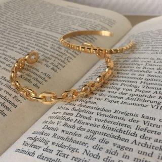 【即納】キャトルバングルブレスレット<GOLD / SILVER>|Catle Bancle Bracelet | 男女兼用フリーサイズ