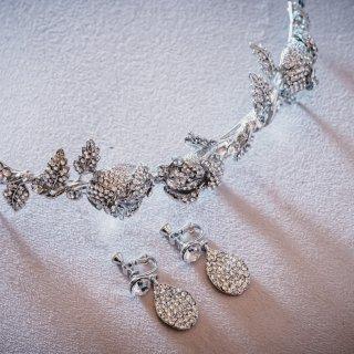 Rose Garden Head dress<Ssize> + Earring set | ローズガーデンシリーズ ヘッドドレス<Ssize> + イヤリングセット