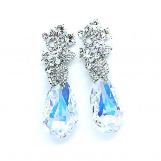ピュリマ デュードロップ オーロラ | PYURIMA Dew Drop Earrings Aurora Swarovski Crystal