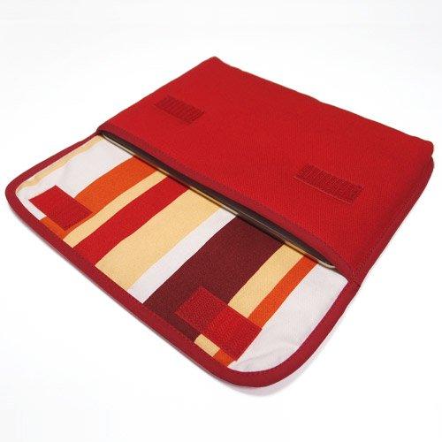 iPad mini4ケース:FILO(レッド・オレンジストライプ)